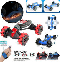 Remote Control Off-Road Gesture Sensing 4WD Double Sided Flip RC Stunt Car GIFT