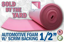 Pink Sew Foam W/ Scrim Backing Automotive Upholstery 1/2