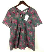 New Rosie Pope Women's Maternity Top Size XL Floral Print Short Sleeve V-Neck