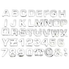 40pcs DIY 3D Chrome Car Emblem Sticker Alphabet Letter Number Symbol Badge