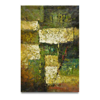 NY Art- Green High Quality Modern Abstract 24x36 Original Oil Painting on Canvas