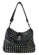 Scarleton Studded Skull Shoulder Bag H141701 - Black