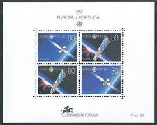 1991 EUROPA SPAZIO PORTOGALLO FOGLIETTO MNH ** - B