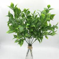 34cm Artificial Leaf Bouquets Plant Green Foliage Home Balcony Landscape Decors