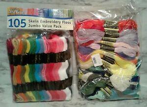BIG Factory Sealed LOT Embroidery Floss Thread - 105 JP Coats NIB & More