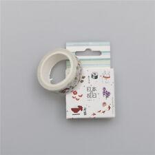 New listing 15mm*7M Japanism food Sticker Paper Masking Adhesive Tape Craft Decor A-L
