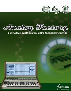 Arturia Analog Factory 1 Intuitive Synth Synthesizer  Plug-In Software NEW