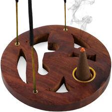 Om Aum Wooden Incense Holder. Meditation / Yoga / Mantra.