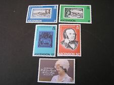 ASCENSION IS. SCOTT # 247-250(4)+261,1979-80 HISTORICAL EVENTS ISSUES MNH