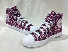 Converse Girl's CT Hi Top Rose Maroon/Cherry Blossom Sneakers-Size 11/12/2/3 NWB