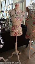 Pretty Beige Cream Floral Mannequin Dressmaker Dummy Body Stand Clothes Display