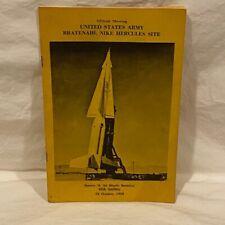 Booklet - United States Army Bratenahl Nike Hercules Site - 1959 - P/B - Ohio