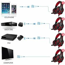 Gaming Headset con microfono e LED per PC, cellulare, PS4 e Xbox One DLAND 3.5mm