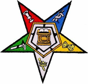 """Pack of 100 PCS Masonic Order of the Eastern Star Iron On Patch 4"""" Embroidered"""