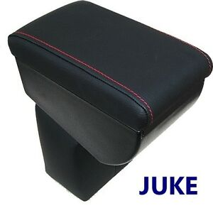 Armrest for NISSAN JUKE 2010-2019- BLACK + ED STITCHINGS - MADE IN ITALY quality