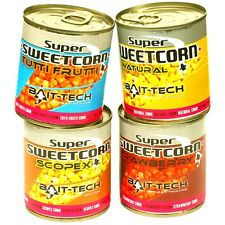 350g OF BAIT TECH STRAWBERRY FLAVOUR SWEETCORN FOR CARP / COARSE FISHING