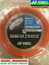 YONEX BG66 ULTIMAX 200M COIL BADMINTON RACKET STRING ORANGE COLOUR
