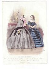 LES MODES PARISIENNES. GRAVURE DE MODE ANCIENNE ANNEE 1859. N° 839. REF 2778