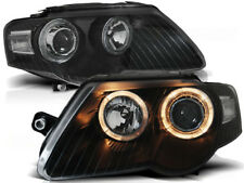 NEW SET HEADLIGHTS LHD / RHD LPVWC6 VW PASSAT B6 3C 03.05-10 ANGEL EYES BLACK
