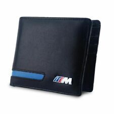 M Logo Wallet Bifold Genuine Leather BMW M Power Document Credit Card Holder