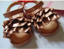 New Ted Baker Baby Girl Rose Gold Leather Sandals BNWT 3-6 Months