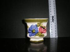 Hand Painted Small Planter/ Pot. Made in Brazil
