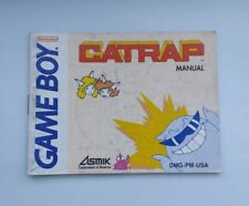 Nintendo Gameboy Catrap Manual DMG-PM-USA English