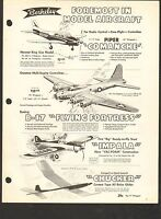 VINTAGE AD SHEET #1444 - BERKELEY MODELS - PIPER COMANCHE etc