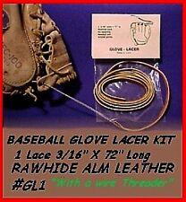 "Tan ~ 1/8"" x 72"" Narrow Lace ~ BASEBALL GLOVE LACE REPAIR kit  Laces"