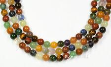 "16"" Mixed Stones Round Beads 8mm #85148"
