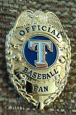 TEXAS RANGERS OFFICIAL BASEBALL FAN BADGE PIN