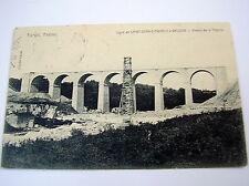 OLD PPC~VIADUC DE LA THONNE~TARGÉ~TABAC~ca 1908~LIGNE ST.JEAN D'ANGELY A SAUJON