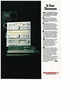 PUBLICITE  1978   THOMSON  h-fi   platine pré-ampli ampli tuner