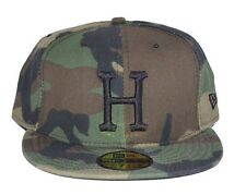 NWT HUF NEW ERA HAT CAMO CAMOUFLAGE 7 & 3/4 LIMITED EDITION HUF FLAG MADE IN USA