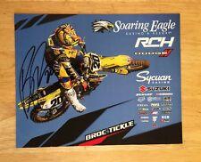 SIGNED Broc Tickle Supercross AMA Motocross Racing Photocard Monster Suzuki