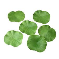 Artificial Lotus Leaf Coasters, 4-3/4-Inch, 6-Piece