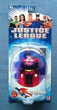 SUPERMAN WITH INTERLOCKING STAND JUSTICE LEAGUE DC COMICS MATTEL 5 INCH FIGURE