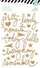 Heidi Swapp Gold Glitter Word Stickers Craft Scrapbooking Planning Cardmaking