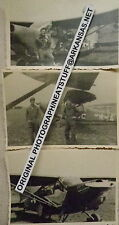 WW II ORIGINAL PHOTOS OF FIXED WING AIRPLANE, 1945, GERMANY, KOBLE SCHOOL, 3 PIC