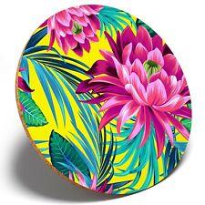 1 x Purple Lotus Flower Lily - Round Coaster Kitchen Student Kids Gift #14722