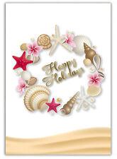 Hawaiian Christmas Pack of 12 Cards Season's Shells Hawaii MeleKalikimaka SALE