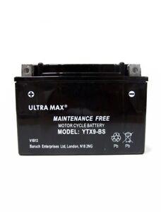 Ultramax Bike Motorcycle battery Maintenace Free TTX9-BS AGM Dry 12v 9Ah AS YTX9