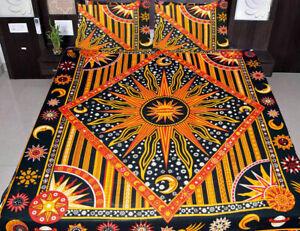Mandala Burning Sun Duvet Cover Indian Bedding Room Queen Cotton Blanket Set Art