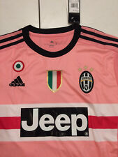 Camicia rosa Juventus AWAY FOOTBALL SHIRT JERSEY 2015/16 NUOVO mezzo Rosa Drake
