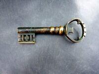 alter Korkenzieher Corkscrew Schlüssel Messing massiv 13 cm Sammlerstück