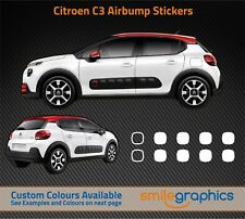 Citroen C3 Airbump Stickers decals - White -  Other colours available