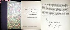 1982 SIGNED LOUIS SIMPSON PETER MAKUCK BROCKPORT BOA EDITIONS 1st ED.