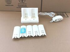 Nintendo Wii Rocketfish Charging Station with 5 Rechargeable Batteries - TESTED!