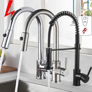 Wasserhahn Küche Niederdruck Küchenarmatur  ausziehbar Brause Einhandmischer DHL