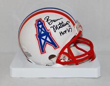 Bruce Matthews Autographed Houston Oilers Mini Helmet W/ HOF- JSA Witnessed Auth